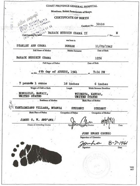 birth cert